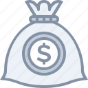bag, business, cash, deposit, investment, money icon