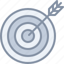 archery, arrow, business, game, sports, strategy, target icon