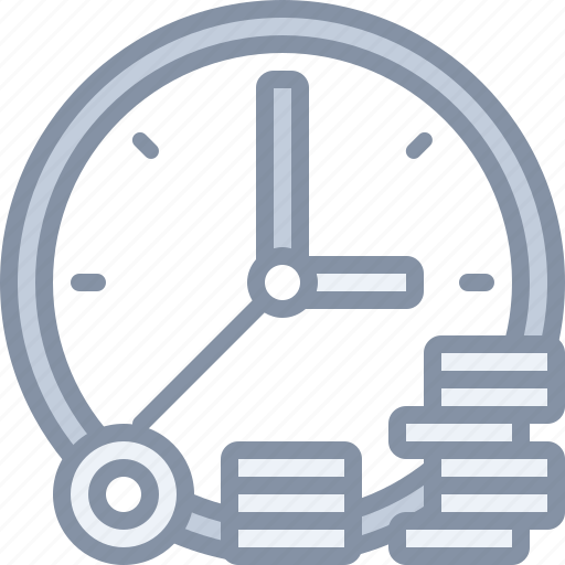 business, deadline, management, money, time icon