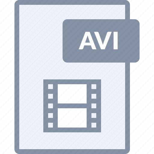 avi, document, file, movie, paper, play, video icon
