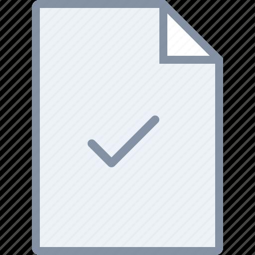 check, confirm, document, file, ok, paper, tick icon