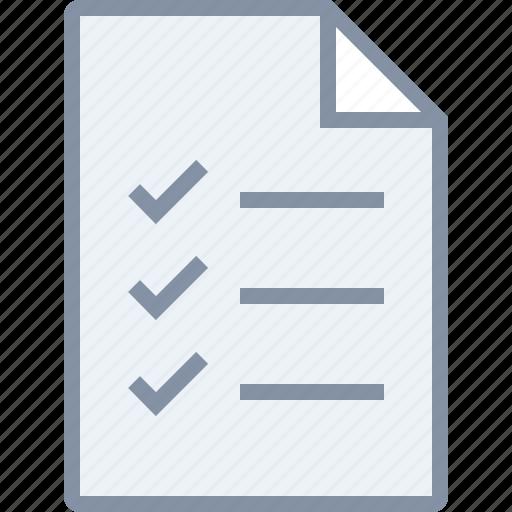 check, checklist, document, file, paper, task, tick icon