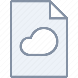 cloud, data, document, file, internet, storage, sync icon