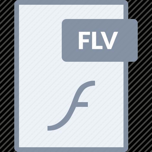 document, file, flash, flv, paper icon