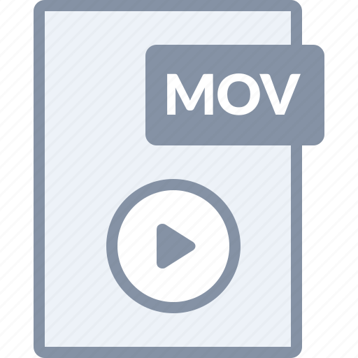 document, file, mov, movie, paper, play, video icon