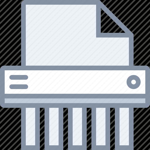 delete, destroy, document, file, paper, shredder icon