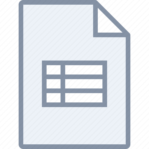 document, excel, file, paper, table icon