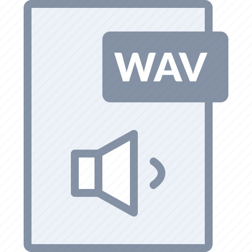 audio, document, file, music, sound, volume, wav icon
