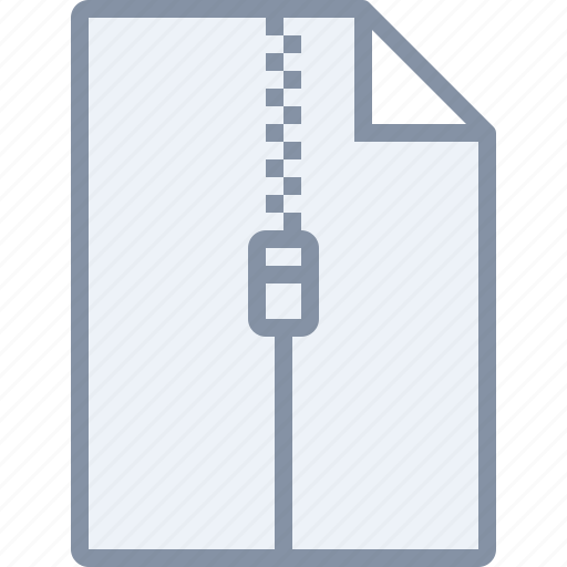 archive, document, file, zip, zipper icon