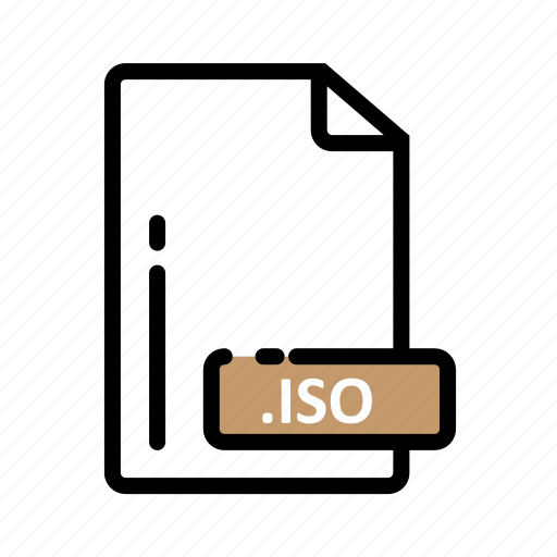 Document, extension, file, format, iso icon - Download on Iconfinder