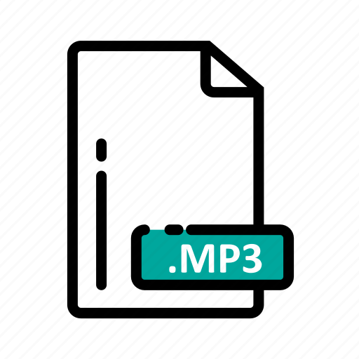 document, extension, file, format, mp3 icon