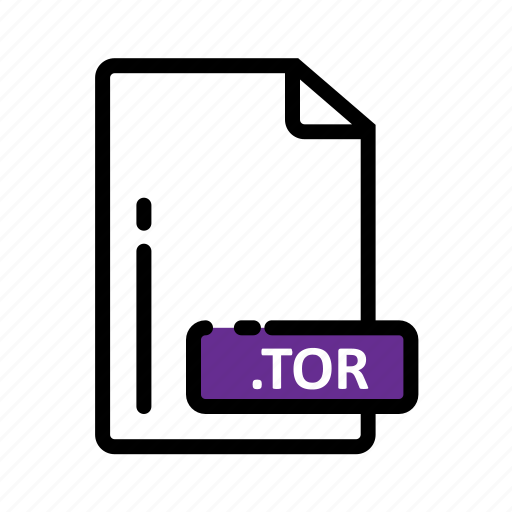 Document, extension, file, format, tor icon - Download on Iconfinder