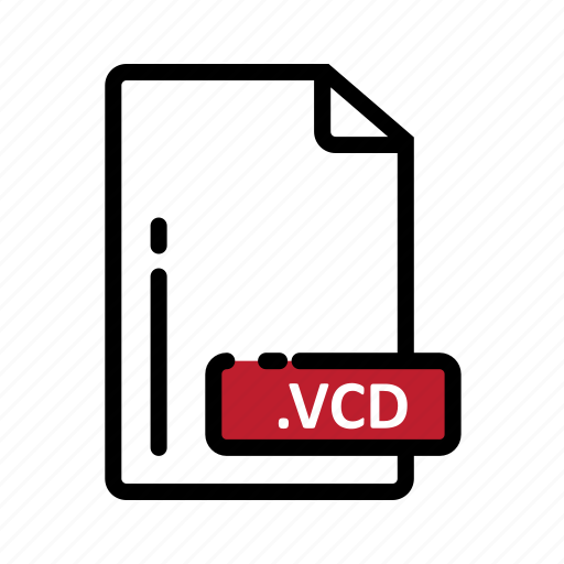 document, extension, file, format, vcd icon