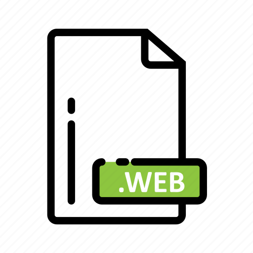 document, extension, file, format, web icon