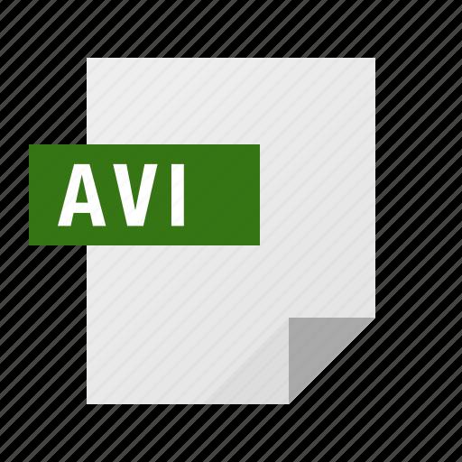 avi, document, file, filetype, video icon