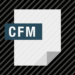 cfm, coldfusion, document, file, filetype icon