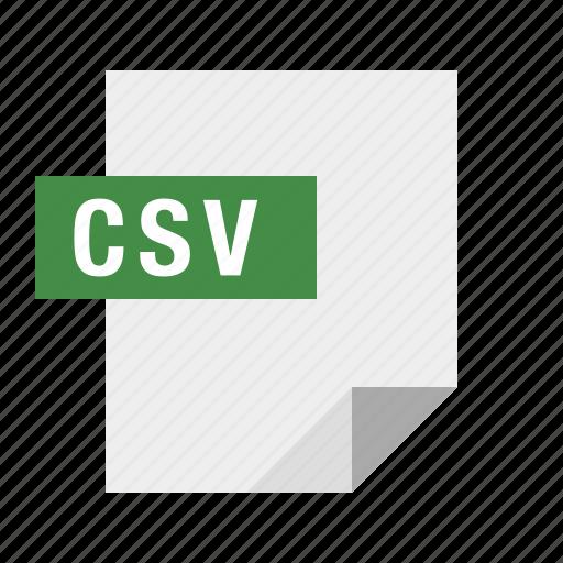 csv, document, file, filetype icon
