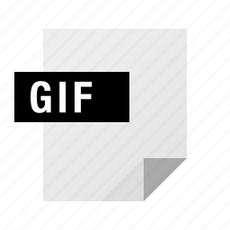 document, file, filetype, gif icon