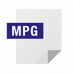 document, file, filetype, mpeg, mpg icon