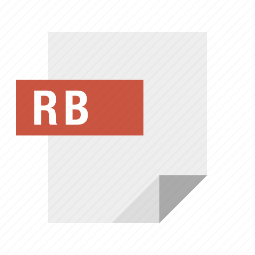document, file, filetype, rb, ruby icon