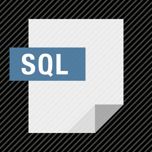 database, db, document, file, filetype, sql icon