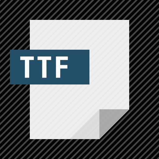 document, file, filetype, font, ttf icon