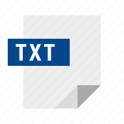 document, file, filetype, text, txt icon