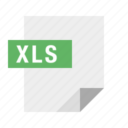 document, excel, file, filetype, spreadsheet, xls icon