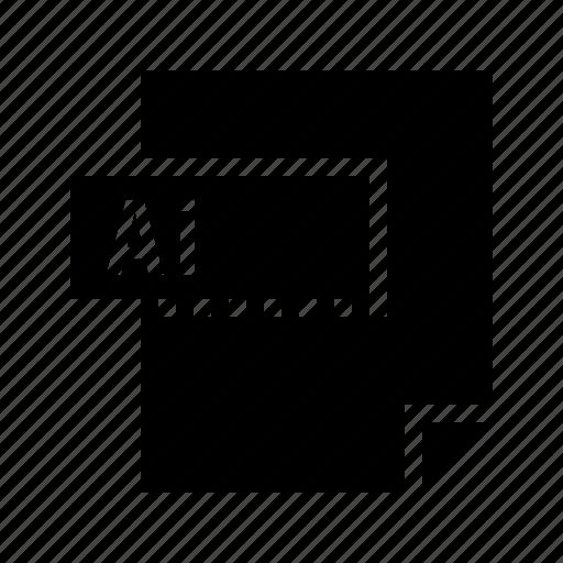 ai, document, file, filetype, illustrator icon