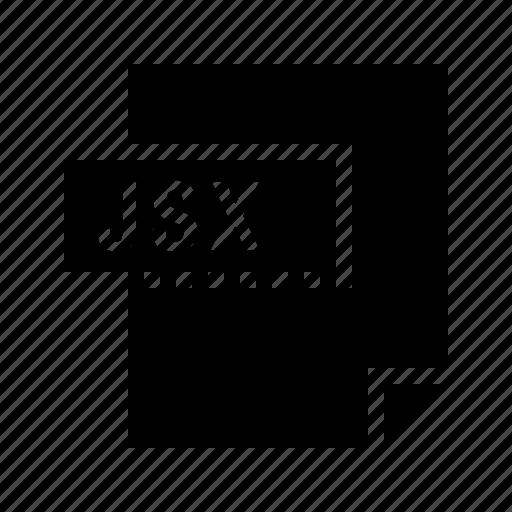 document, file, filetype, jsx icon