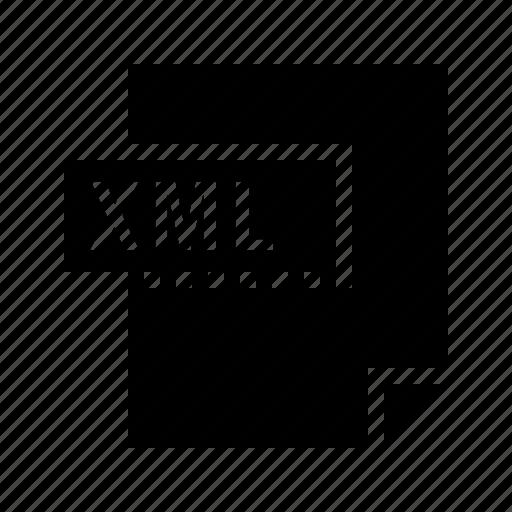 document, file, filetype, xml icon