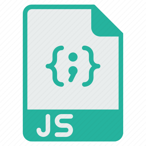 document, extension, file, filetype, format, javascript, js icon