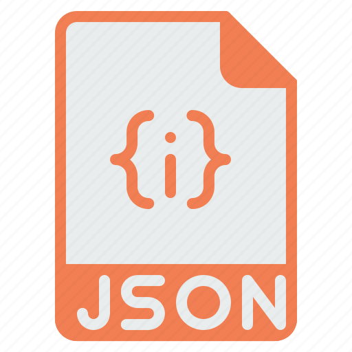 coding, document, extension, file, format, json, programming icon