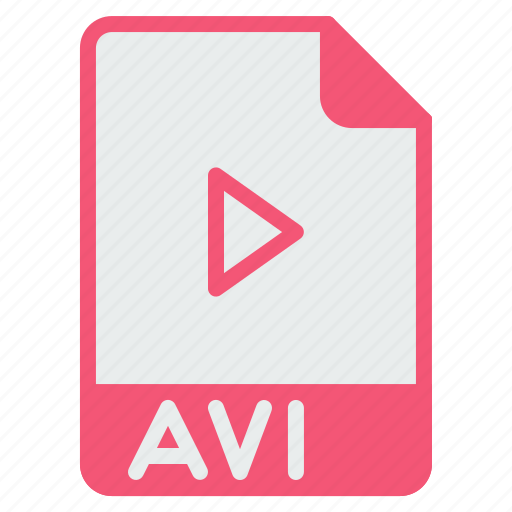 avi, document, extension, file, format, player, video icon