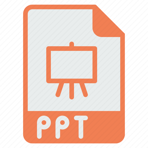 document, extension, file, format, powerpoint, ppt, presentation icon