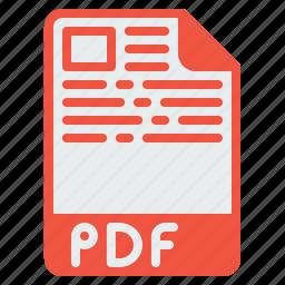 adobe, document, extension, file, filetype, format, pdf icon