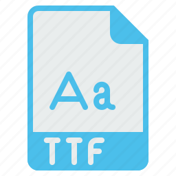document, extension, file, filetype, format, ttf icon