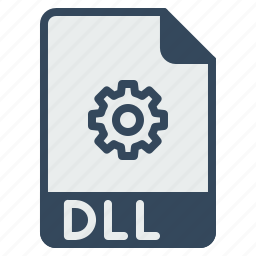 coding, dll, document, file, format, library, link icon