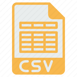 csv, document, excel, extension, file, filetype, format icon