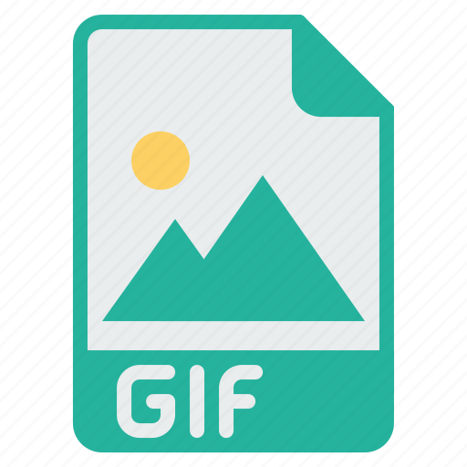 document, extension, file, filetype, gif, image, picture icon
