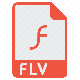 document, extension, file, flash, flv, format, player icon