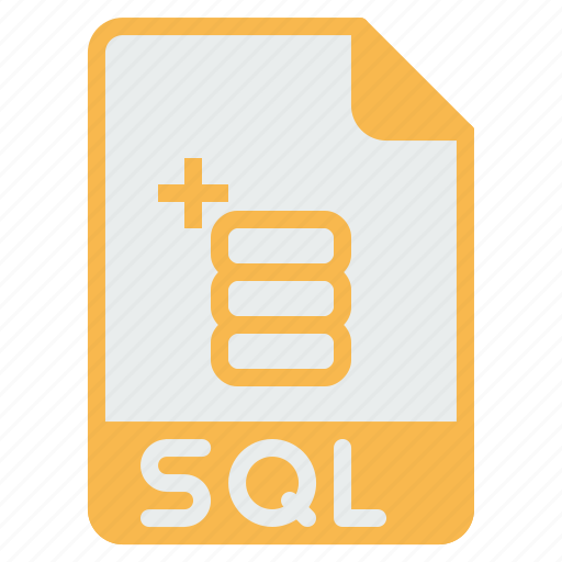 database, document, extension, file, format, sql, storage icon
