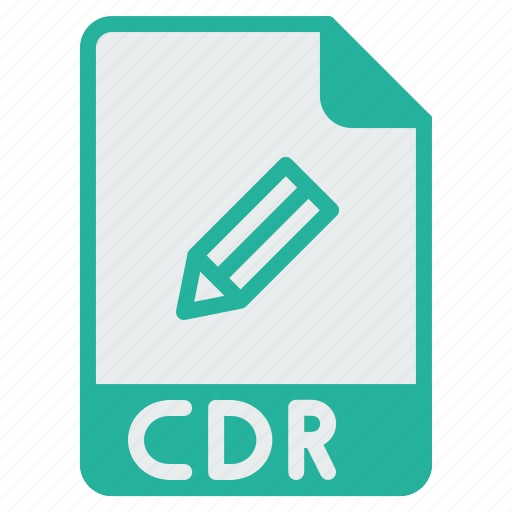 cdr, corel, document, draw, drawing, file, format icon