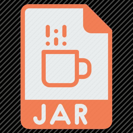 document, extension, file, format, jar, java, programming icon