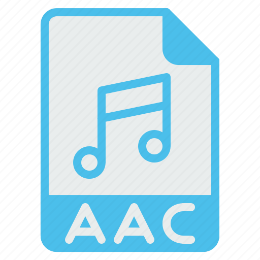 aac, advance, audio, coding, extension, file, format icon