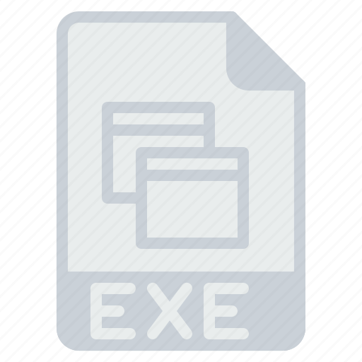 document, exe, executable, extension, file, format, programming icon