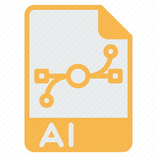 adobe, ai, document, extension, file, filetype, illustrator icon