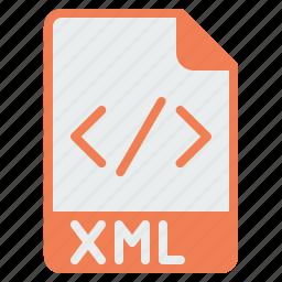 coding, document, extension, file, filetype, programming, xml icon