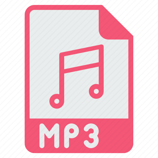 audio, extension, file, filetype, mp3, music icon