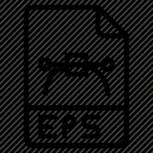document, eps, extension, file, format, photoshop, postcript icon